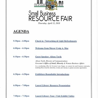 Business Fair Agenda